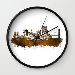 Lisbon brown art Wall Clock