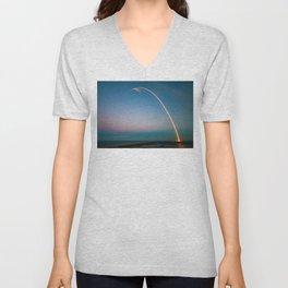 SpaceX Rocket Launch Unisex V-Neck