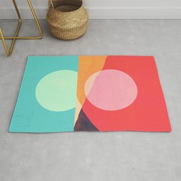 Abstraction_SUNSET_REFLECTION_MOUNTAINS_POP_ART_0222A Rug
