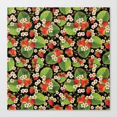 Strawberries Botanical Canvas Print