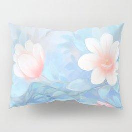 Blue Flowers Dream - Bodyart - Photography by Lana Chromium - beauty - woman - body - soul Pillow Sham