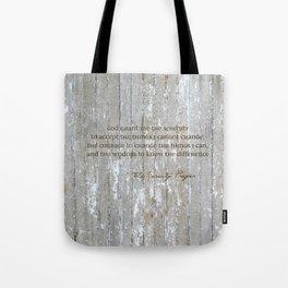 SERENITY PRAYER: BROWN BARN Tote Bag