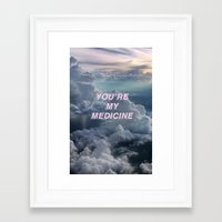 matty healy Framed Art Prints featuring MATTY by Cherry Beth