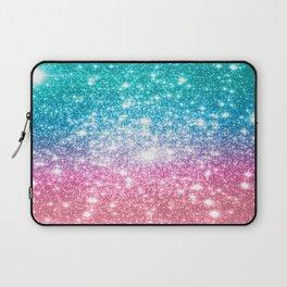 Mermaid Galaxy Sparkle Stars Laptop Sleeve