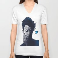 tom waits V-neck T-shirts featuring Tom Waits - Blue Valentines by Brad Collins Art & Illustration