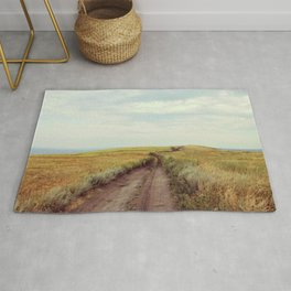 Rustic photo. Country road photography. Summer landscape. Nature poster Rug