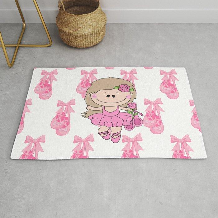 Little Ballerina in Pink Rug