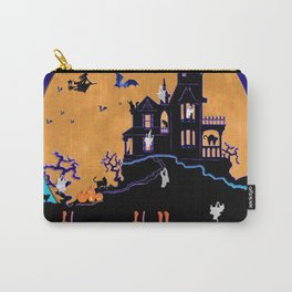 Halloween Haunted House Carry-All Pouch