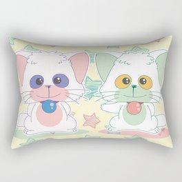 Creamy Mami: Posi and Nega Rectangular Pillow
