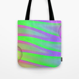 Colors swimming on grey Tote Bag