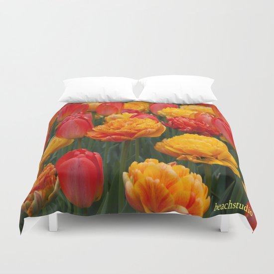 Scrumptious Tulips Duvet Cover
