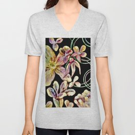 Colorful Flower Wall Unisex V-Neck