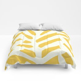 Coral in yellow Comforters