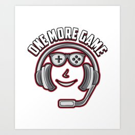 online gamer video game fan headset gift idea teenager Art Print