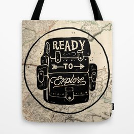 Ready To Explore The World Tote Bag