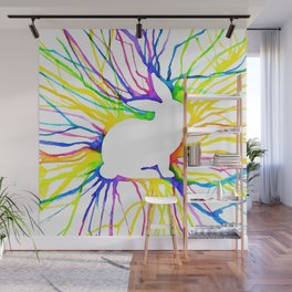 Electric Bunny Wall Mural