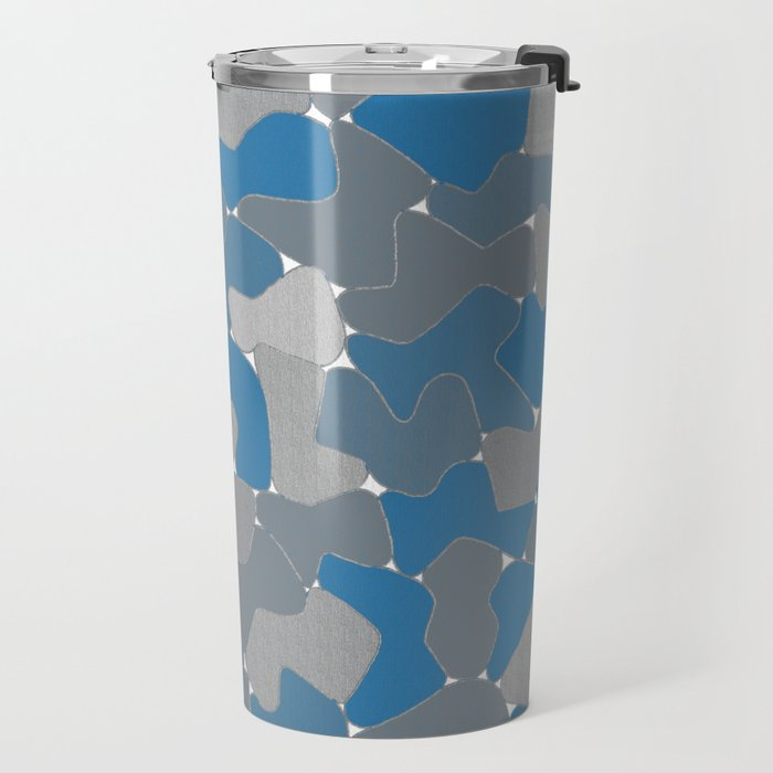 Blue Wall Etching Travel Mug