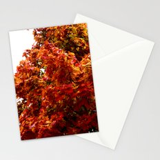 Autumn red tree Stationery Cards