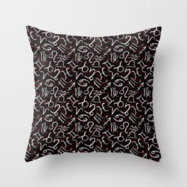 Astrology, Zodiac Sign and symbol, astrologer Throw Pillow