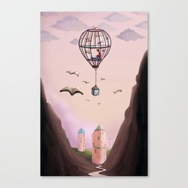 A Very Bookish Adventure Canvas Print