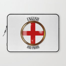 English Proud Flag Button Laptop Sleeve