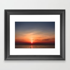 Red Sky At Morning Framed Art Print