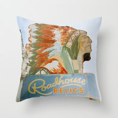 Roadside Relics Throw Pillow