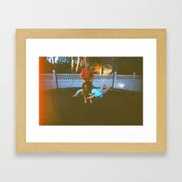 just floating Framed Art Print