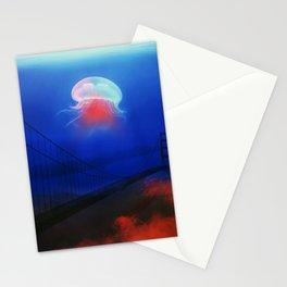 """Underwater Bridge"" poster Stationery Cards"
