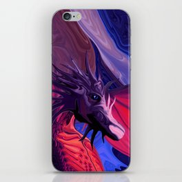 Jewel Toned Dragon of the Amethyst and Ruby Caverns iPhone Skin