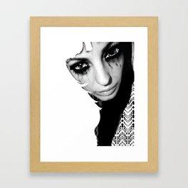 Crazy Eyez Framed Art Print