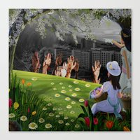 surrealism Canvas Prints featuring Surrealism  by Brittenboa