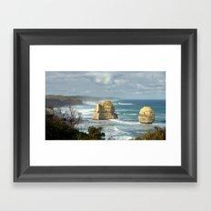 Gigantic Rock Stacks Framed Art Print