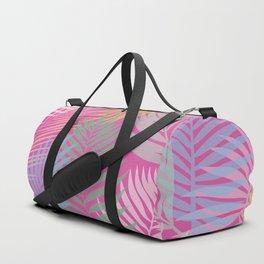 Layered Palms - Hot Pink Duffle Bag