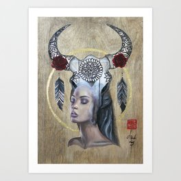Ethereal Bull Art Print
