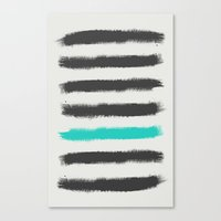 the strokes Canvas Prints featuring Paint Strokes  by Zeke Tucker