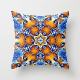 Ocean Life Mandala Throw Pillow