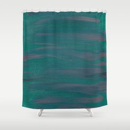 Simple Pink and Green Shower Curtain