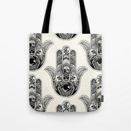 Hamsa Hand Frenchie Tote Bag