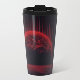Lost Home! Colosal Future Sci-Fi Deep Space Scene in diabolic Red Travel Mug