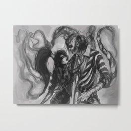 Beetlejuice&Lydia Metal Print