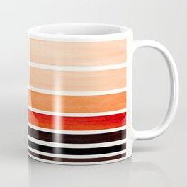 Brown Minimalist Watercolor Mid Century Staggered Stripes Rothko Color Block Geometric Art Coffee Mug