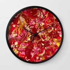 Red hot day Species Wall Clock