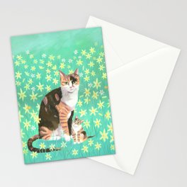 Tortieshell with her Kitten Stationery Cards