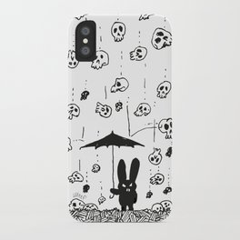 I'm only happy when it rains (skulls) iPhone Case