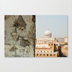 {Basilica Papale di San Pietro in Vaticano} Canvas Print