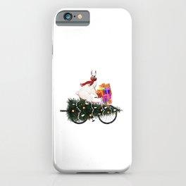 Llama Bringing Home Christmas Tree iPhone Case
