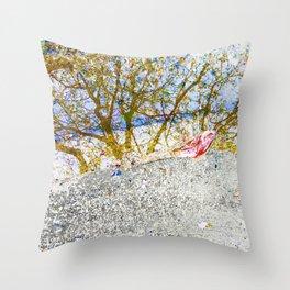 Aqua Metallic Series Forest Throw Pillow