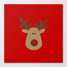 Christmas Reindeer-Red Canvas Print