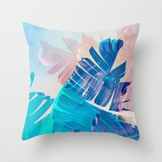 Banana Leaf Fantasy 2 Throw Pillow